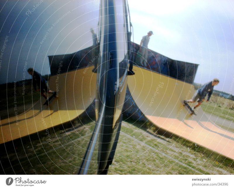 spiegelpipe auf sylt Halfpipe Skateboarding Reflexion & Spiegelung Sport Freude