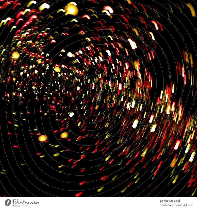 #100 - Ready for Warp Drive rot schwarz gelb Bewegung Kunst Fotografie Weltall durcheinander Schwindelgefühl Verwirbelung Science Fiction