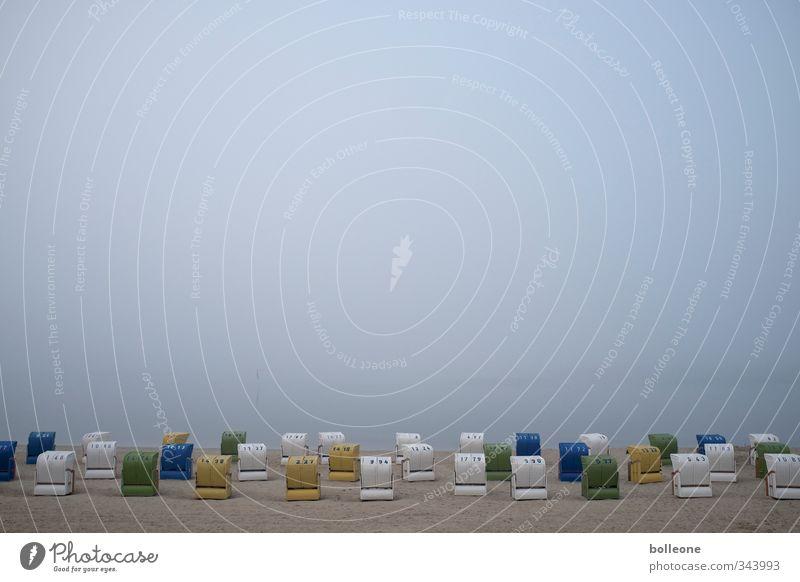 Wenn die Körbe Trauer tragen... Ferien & Urlaub & Reisen Tourismus Sommer Strand Meer Insel Landschaft Sand Himmel Klima Wetter Nebel Küste Nordsee Föhr
