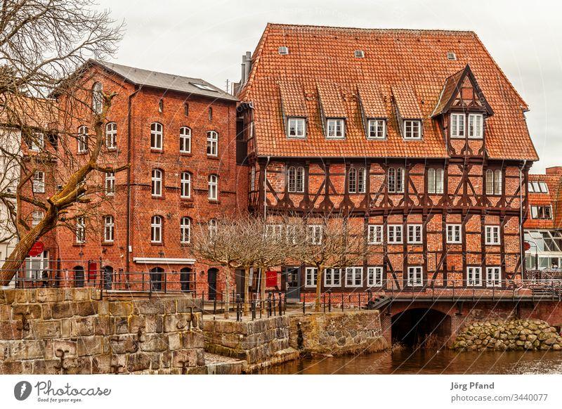 Abtmühle in Lüneburg Deutschland Niedersachsen Mühle Abtsmühle Wasser Fachwerkhaus historisch