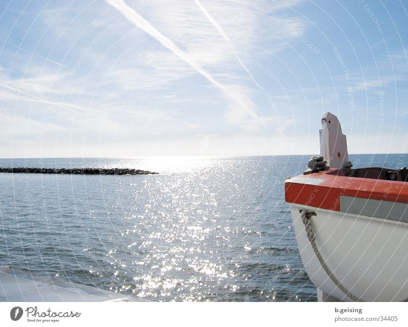 Neuwerk02 Sonne Meer Wasserfahrzeug glänzend Schifffahrt Nordsee