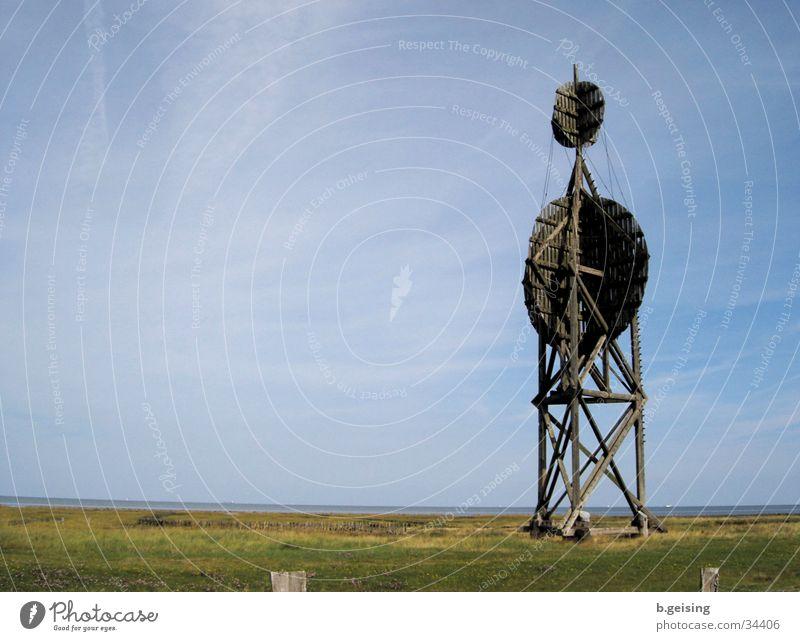 Neuwerk01 blau Ferne Insel Aussicht Turm Nordsee Neuwerk