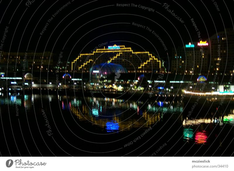 Hotel Wasser Beleuchtung Architektur Hafen Australien Sydney