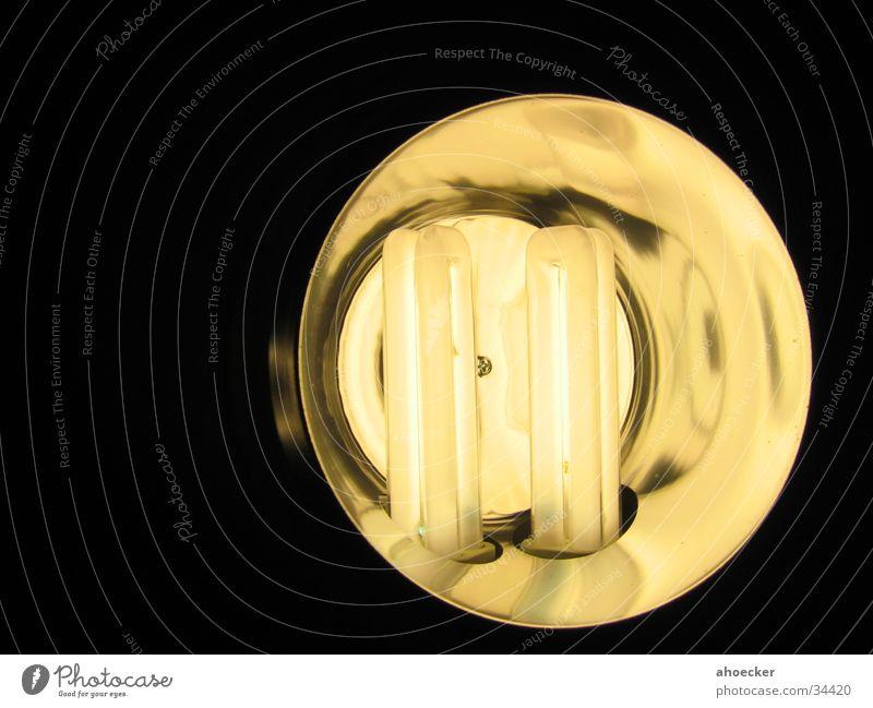 Spar - Lampe schwarz dunkel Licht rund gelb Elektrisches Gerät Technik & Technologie hell Gegenblitz Reflexion & Spiegelung