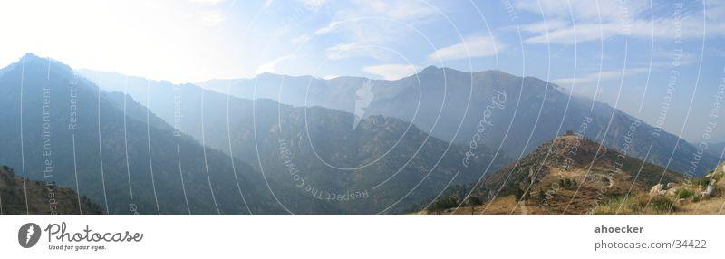 Berge Himmel blau Wolken Berge u. Gebirge groß Panorama (Bildformat) Korsika