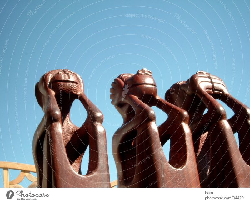 nichts sehen, hören und sage Handwerk Affen Produktion