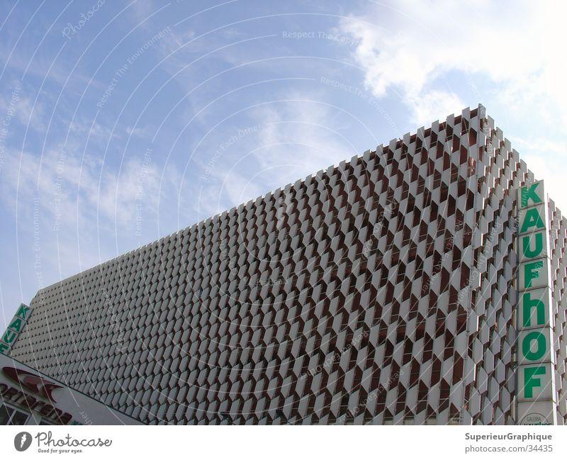 Centrum Warenhaus Himmel Wolken Berlin Architektur Kaufhaus Alexanderplatz Kaufhof