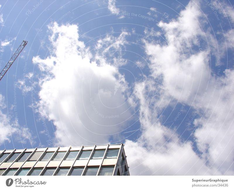 himmel in berlin Himmel Haus Wolken Flugzeug Kran
