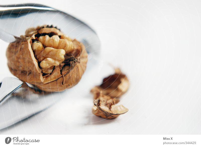 Knacker Lebensmittel Ernährung Essen Slowfood Weihnachten & Advent lecker Walnuss Nuss Nussschale Nussknacker Edelstahl Hülle brechen hart hartnäckig Kraft