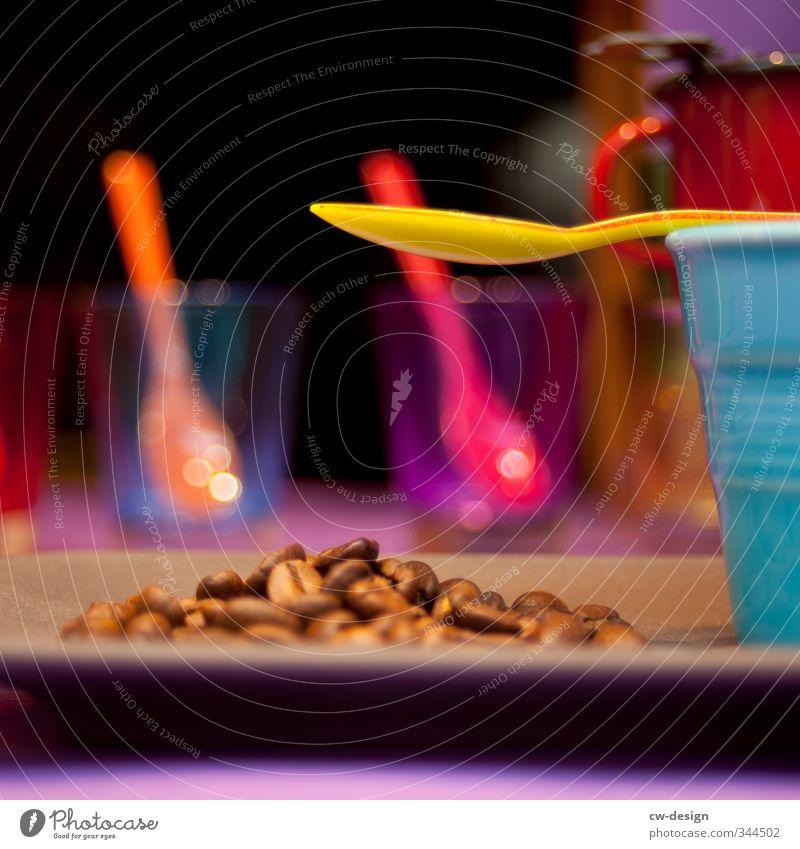KAFFEE IST FERTIG gelb Essen Gesundheit Lebensmittel braun rosa orange frisch Glas Ernährung Fröhlichkeit Getränk Kaffee violett lecker Frühstück