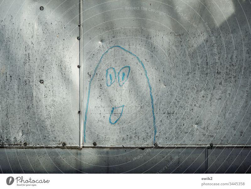 Blickkontakt Metall heizrohr Industrie Röhren Stahl Leitung Technik & Technologie Menschenleer Energiewirtschaft Alltagskunst Street Art streetart Gesicht