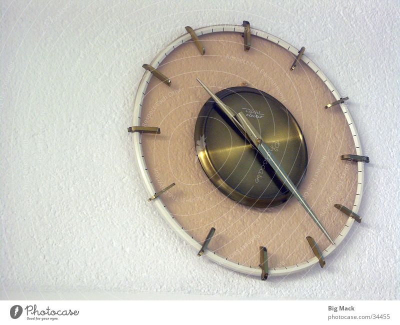 Zeit der Siebziger Zeit Uhr Häusliches Leben Siebziger Jahre kultig Wanduhr