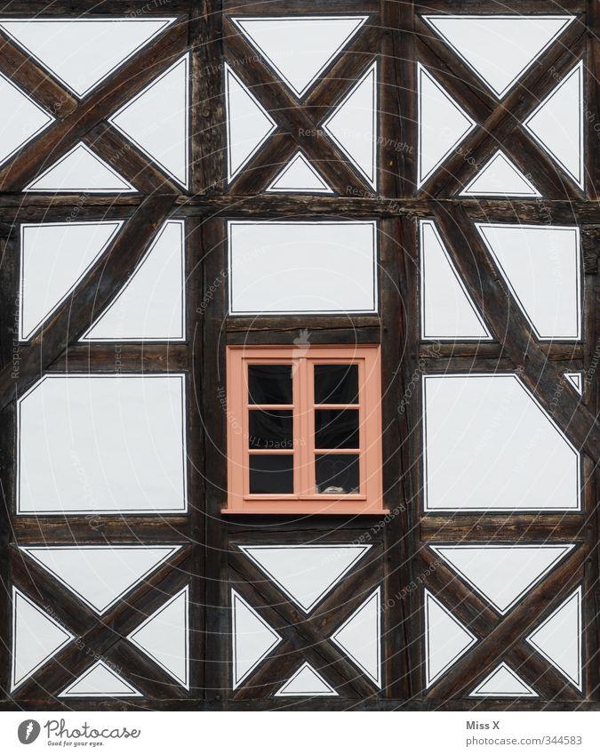 Vom Fach Häusliches Leben Wohnung Altstadt Haus Mauer Wand Fassade Fenster alt Restauration Fachwerkfassade Fachwerkhaus xxx Farbfoto Außenaufnahme Muster