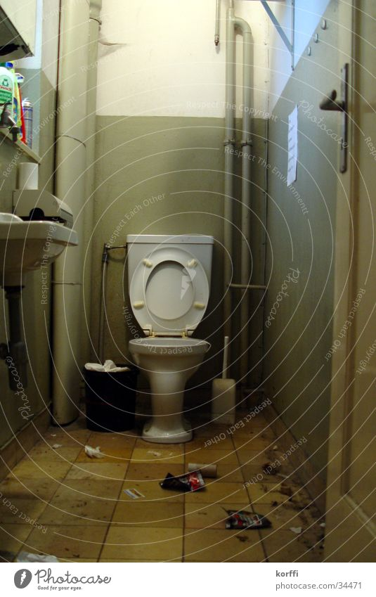 toilette drei Toilette Häusliches Leben backroom alt