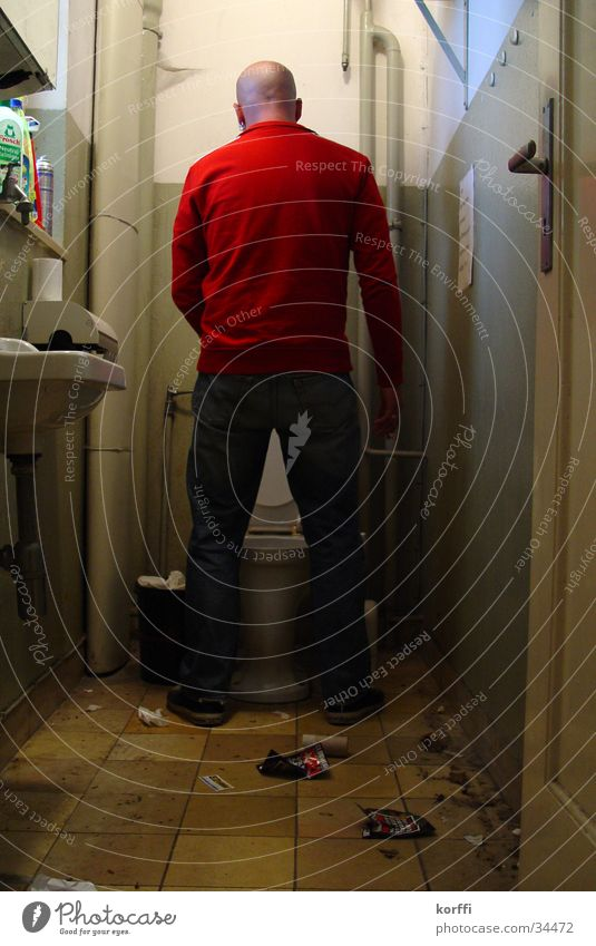 toilette zwei urinieren Mann Toilette backroom