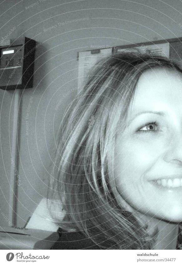 simones_lachen Frau Freude Gesicht Kopf blond