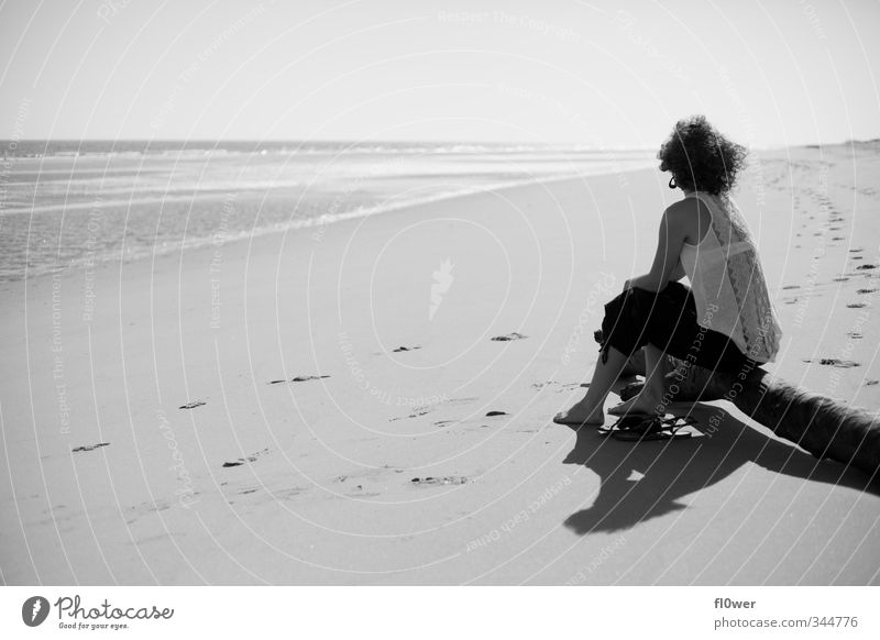 die weizen des ozeans schön Ferien & Urlaub & Reisen Strand Mensch feminin Mädchen Junge Frau Jugendliche Erwachsene Körper 1 Natur Landschaft Sand Wasser Sonne
