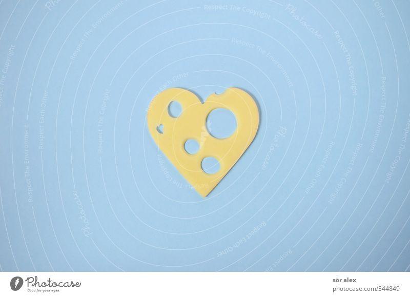 edecka blau gelb Gesunde Ernährung Liebe Essen Lebensmittel genießen Herz Appetit & Hunger lecker Bioprodukte Frühstück Vegetarische Ernährung Käse Valentinstag