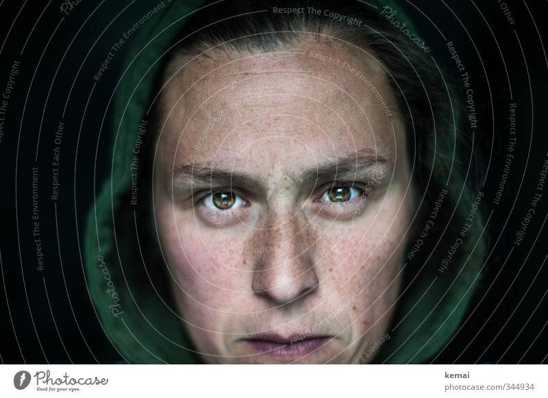 Look into my eyes, the eyes, the eyes - you're under! Lifestyle Stil Mensch feminin Frau Erwachsene Leben Kopf Gesicht Auge Nase Mund Lippen 1 30-45 Jahre