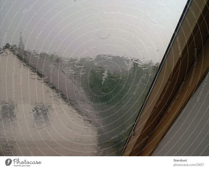 Regentag Fenster Regen Fensterscheibe