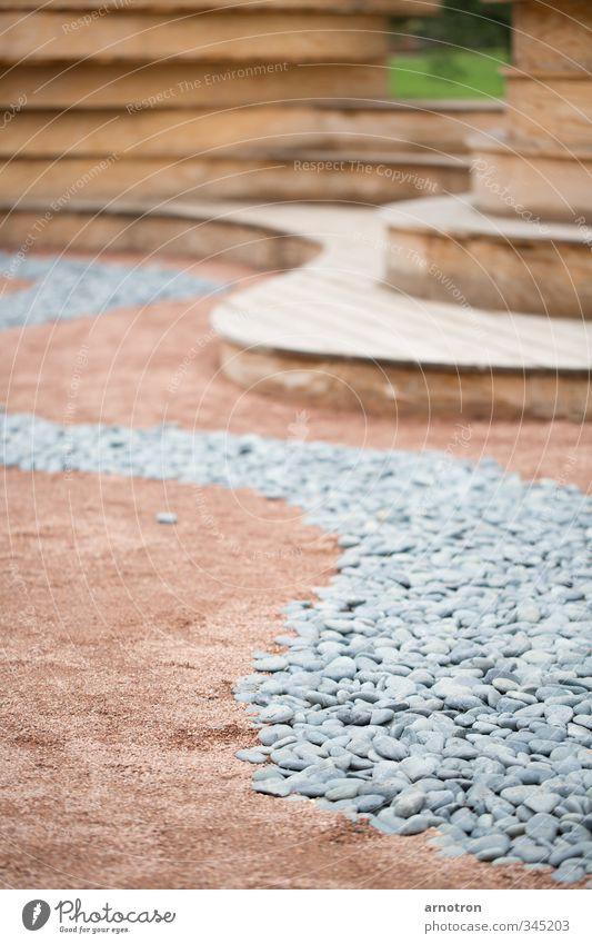 River of Stones Erholung Meditation Garten Dekoration & Verzierung Landschaft Sand Park Hamburg Menschenleer Bauwerk Stein Holz atmen Denken dehydrieren braun