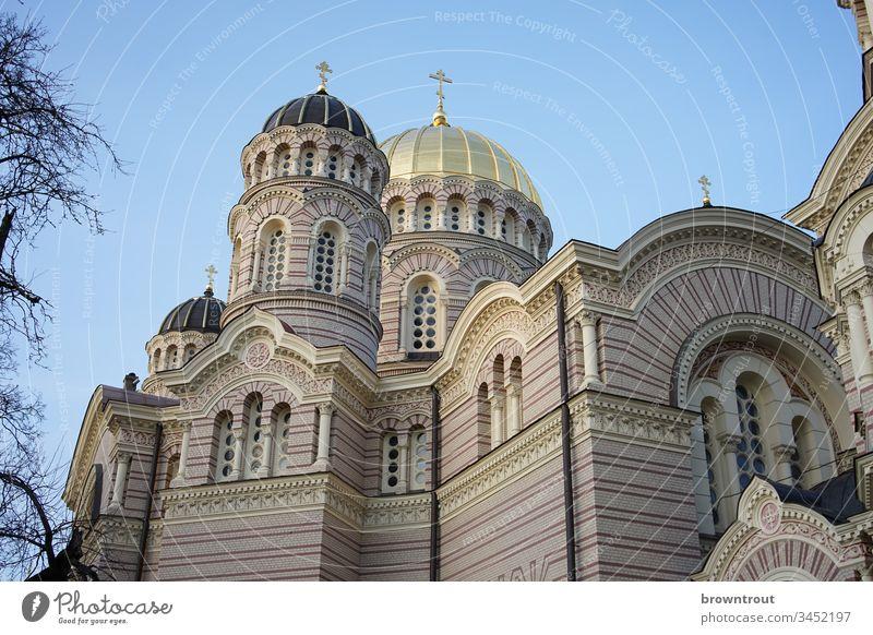 Geburtskathedrale der Russisch-Orthodoxen Kirche in Riga Kathedrale geburtskathedrale Orthodoxie russisch-orthodox Lettland neobyzantinisch Kuppeldach
