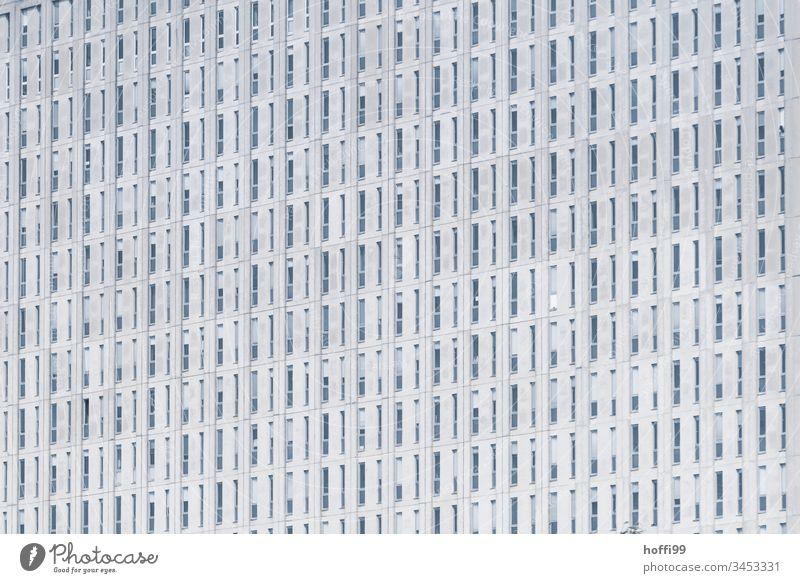 Monotone Fensterfassade Hochhaus Fassade Hochhausfassade Bürogebäude Architektur Glasfassade Linie Ordnung stagnierend Surrealismus Symmetrie Design Bankgebäude