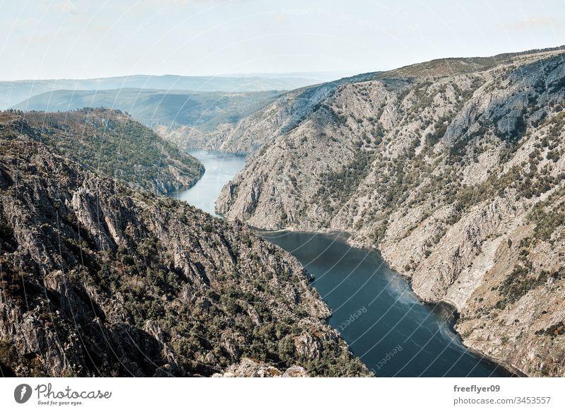 Sil canions von oben unser Sinn Hintergrund schön Schönheit blau Schlucht Landschaft Umwelt Europa Feld Wald Galicia Traube grün Aussichtspunkt Lugo mirador