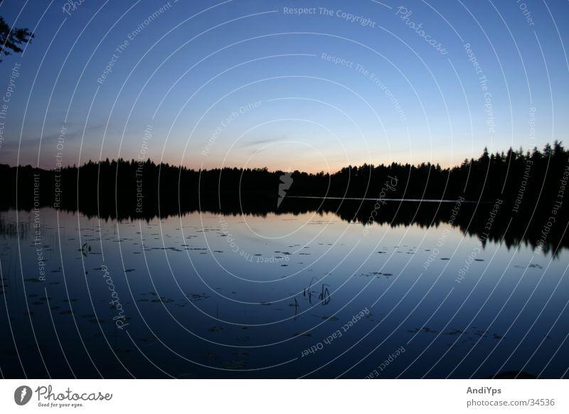 Midsommer_Schweden Natur Wasser Himmel blau See Landschaft Schweden