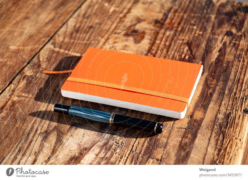 Notizbuch Nachricht Idee planen Erinnerung schreiben Textfreiraum oben Bildung Papier Farbfoto Buch Tagebuch Schule Notebook Business Schriftstück