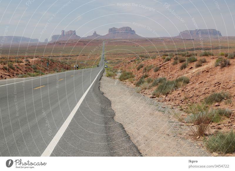 der Denkmal-Talpark Wildnis Reservierung Landschaft Berge u. Gebirge Monument Valley Unschärfe Formation Arizona Utah wüst USA Felsen Westen reisen navajo