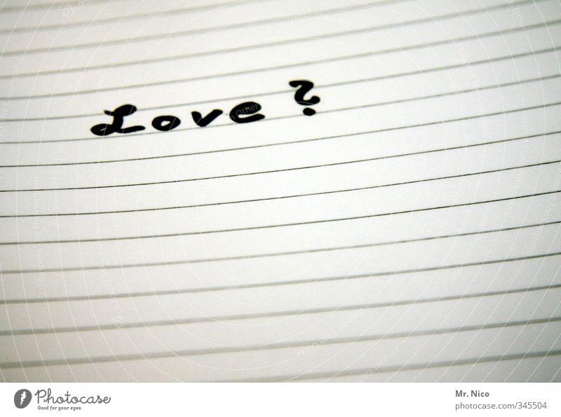 <3 Papier Zettel Zeichen Schriftzeichen schreiben schwarz weiß Glück Liebe Verliebtheit Treue Romantik Wahrheit Hoffnung Schmerz Sehnsucht Enttäuschung