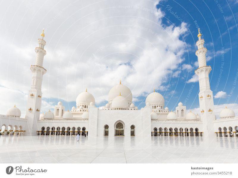Sheikh Zayed Grand Mosque, Abu Dhabi, Vereinigte Arabische Emirate. Moschee scheich zayed moschee uae Islam Murmel Naher Osten Architektur herrschaftlich