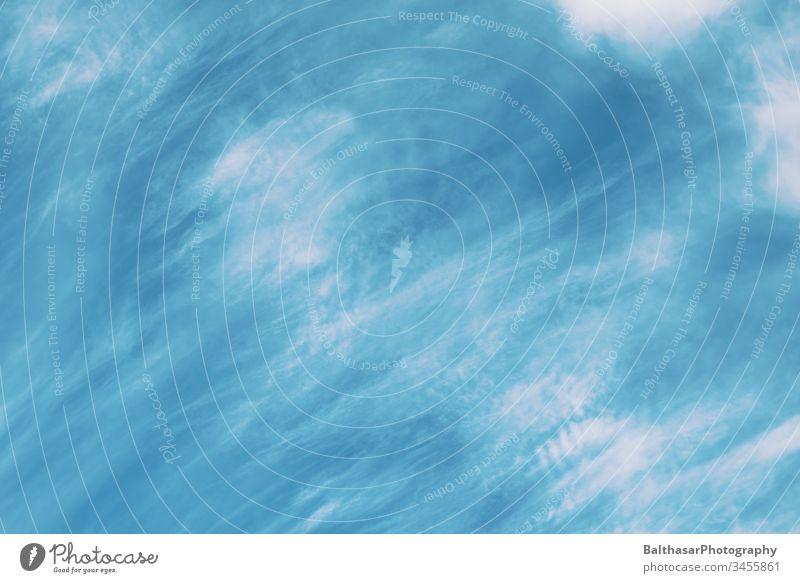 Himmel-Türkis-Blau Wolken Bewegung verschwommen Blauer Himmel türkis blau Muster schön Wetter gutes Wetter Schönes Wetter idyllisch Atmosphäre Stimmung
