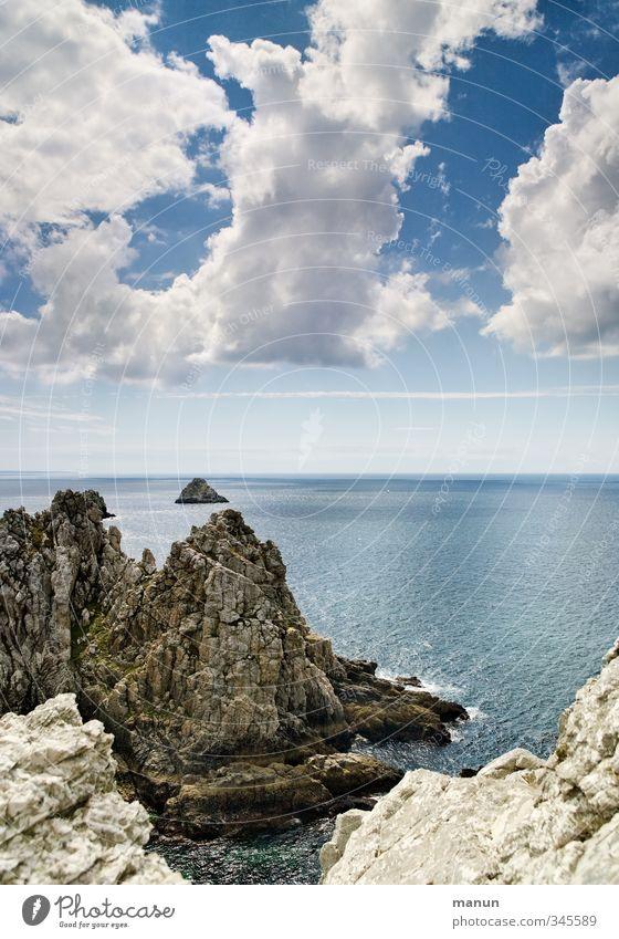 Erbse Natur Ferien & Urlaub & Reisen Meer Landschaft Küste Felsen Schönes Wetter Bucht Fernweh Klippe Riff