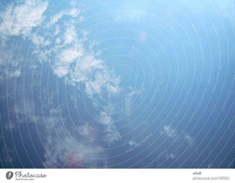 Sommerhimmel schön Himmel blau Sommer Wolken hell Wetter Schönes Wetter grell bedecken schlechtes Wetter