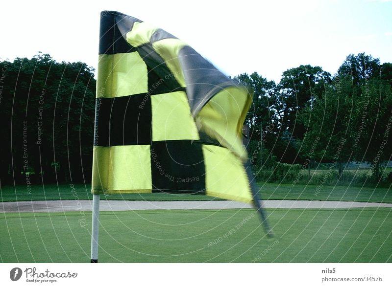 Golffahne schwarz gelb Sport Wind Platz Ecke Fahne Ziel Loch Treffer