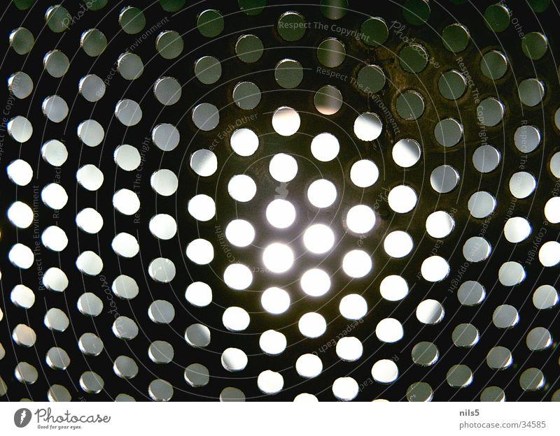 Lochgitter Licht Lampe Motivation nah Häusliches Leben hell Makroaufnahme