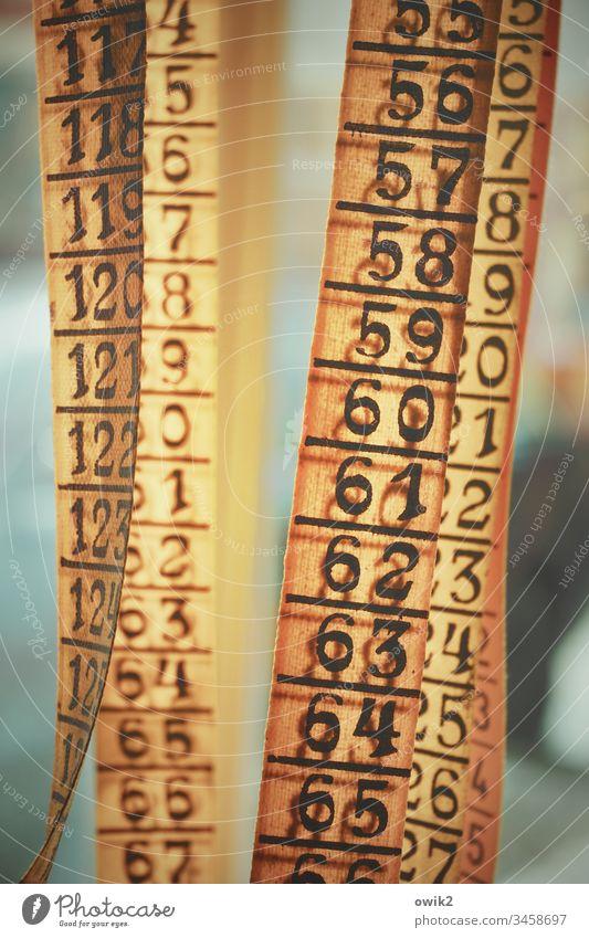 Am laufenden Band Zahlen Maßband viel Reihe Zahlenreihe Zentimeter messen Ziffern & Zahlen Innenaufnahme Menschenleer Genauigkeit Nahaufnahme Detailaufnahme