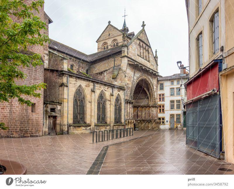Basilika Saint-Maurices in Epinal basilika saint-maurice kirche Eingang Tor epinal vogesen Frankreich architektur Stadt siedlung französisch Haus Gebäude