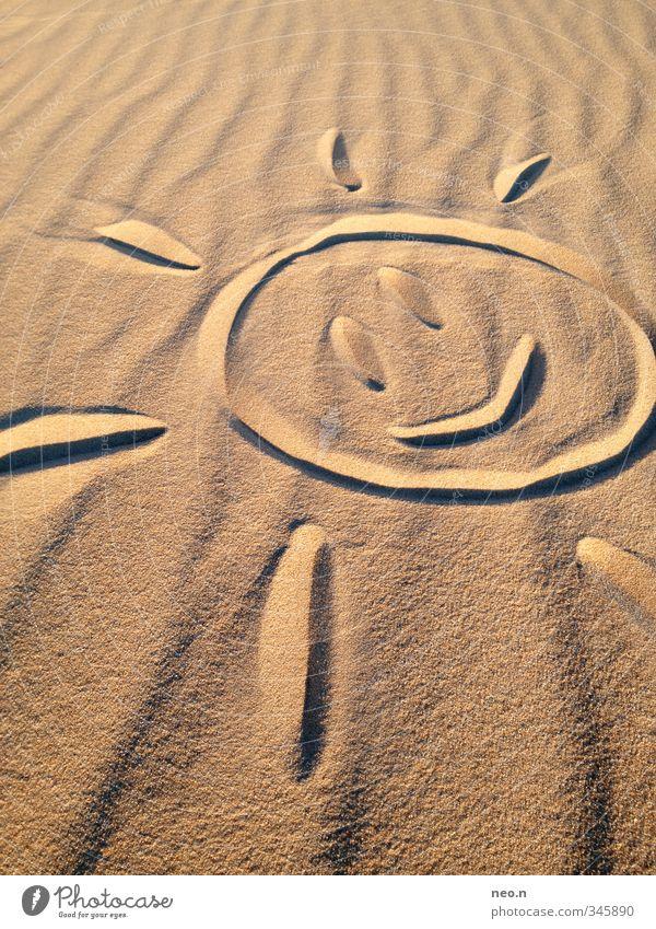 Überall Sonne Natur Sommer Freude Strand gelb Wärme lachen Glück Schwimmen & Baden Sand träumen braun orange gold Zufriedenheit
