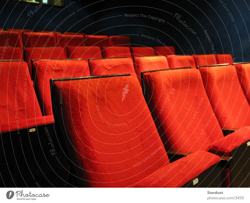 Kino ist das grösste! rot Freizeit & Hobby sitzen Filmindustrie Video Sessel Kinosaal Kinosessel