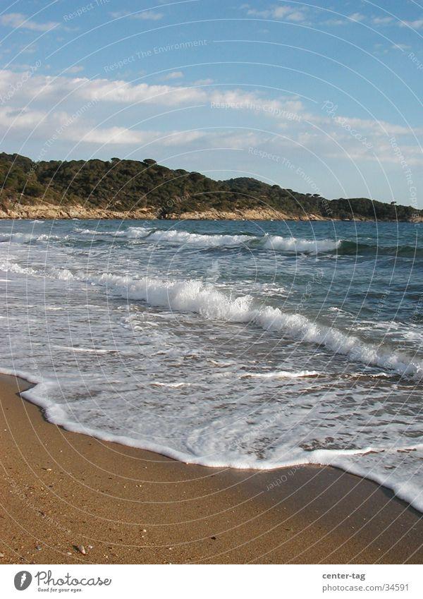 Plage Gigaro 2 Strand Frankreich Wellen Mittelmeer Bucht