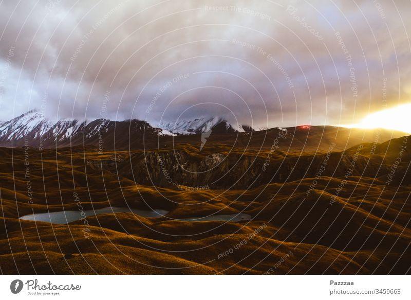 Sonnenuntergang im Alai-Tal kirgistan Pik Lenin Pamir Kirgisistan Alai-Tail Pamir Highway Berge Hochgebirge Sonnenlicht abendhimmel Wildnis Gebirge Asien