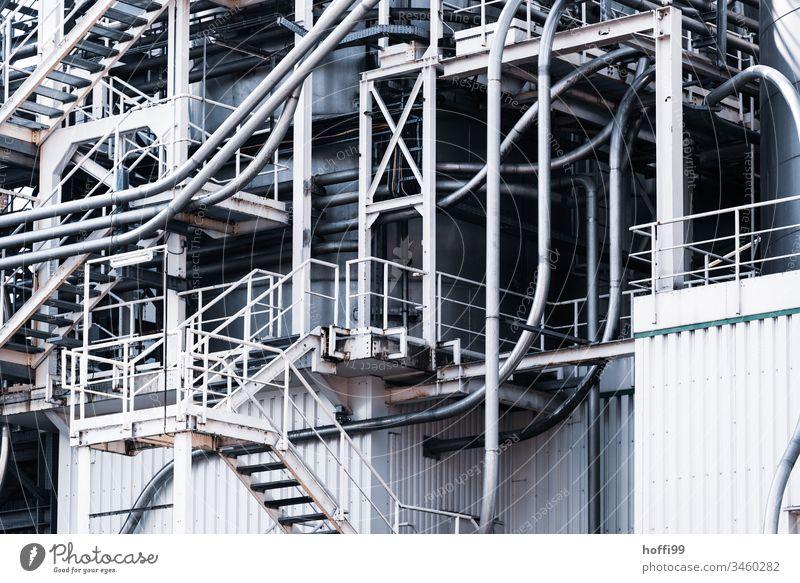 Rohrleitung in Chemieanlage Chemieindustrie Anlagen Technik & Technologie Anlagentechnik Chemikalie Chemiewerk Raffinerie Umweltverschmutzung Energie