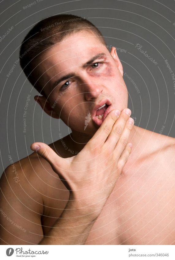 letztens Jugendliche nackt Junger Mann maskulin Kraft gefährlich bedrohlich Macht Wut Mut Schmerz Gewalt Konflikt & Streit Zerstörung Held Aggression