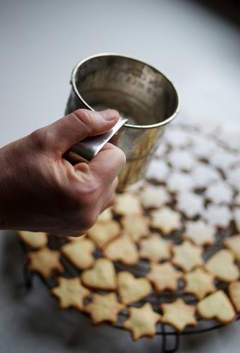Andromeda-Nebel Weihnachten & Advent weiß Metall Lebensmittel Herz süß Stern (Symbol) Kochen & Garen & Backen Küche Süßwaren Kuchen Backwaren Zucker Teigwaren