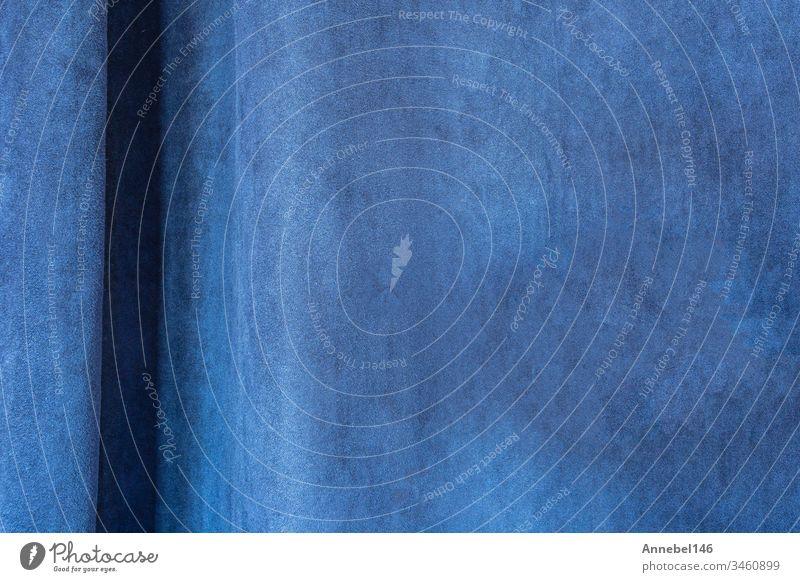 Nahvorhänge mit hellblauer Stoffstruktur, Blue Velvet, moderner Design-Hintergrund Gewebe Textur Gardine Textil Material Farbe Dekoration & Verzierung abstrakt