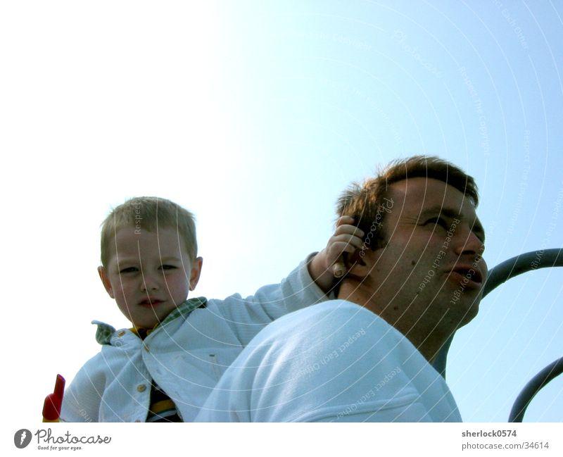 Father & Son Sonne Familie & Verwandtschaft Eltern Aussicht Ohr Vater Sohn Flöte Vatertag