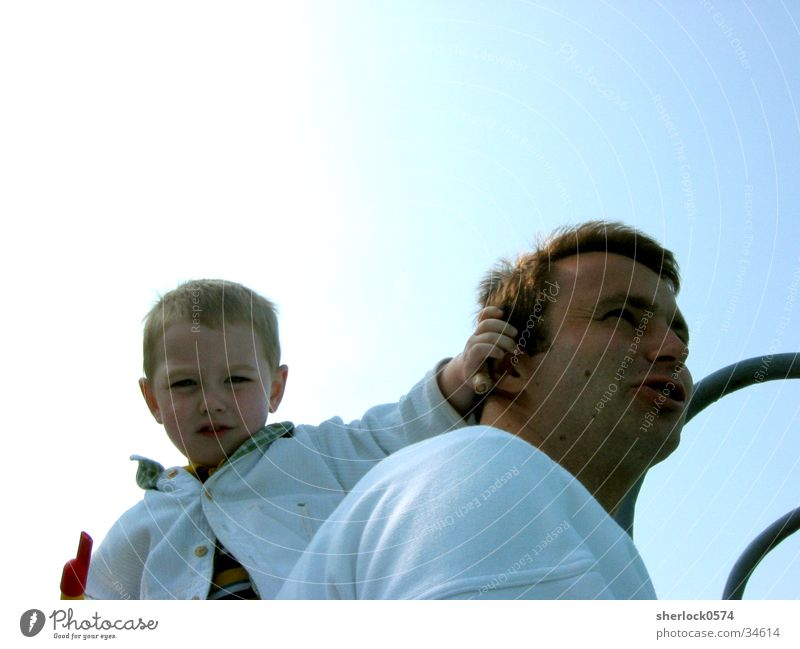 Father & Son Vater Sohn Flöte Aussicht Sonne Ohr Blick Vatertag